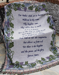 The Lord's Prayer Afghan from Victor Mathis Florist in Louisville, KY
