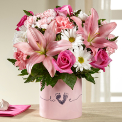 The FTD� Tiny Miracle New Baby Girl Bouquet from Victor Mathis Florist in Louisville, KY