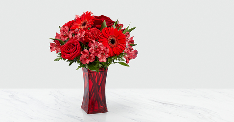 The FTD Red Reveal™ Bouquet from Victor Mathis Florist in Louisville, KY