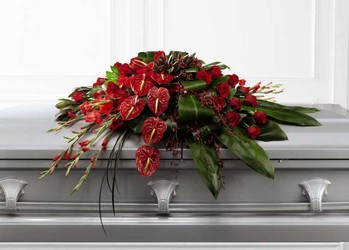 The FTD Peaceful Passage(tm) Casket Spray from Victor Mathis Florist in Louisville, KY