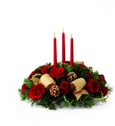 The FTD Celebration of the Season Centerpiece from Victor Mathis Florist in Louisville, KY