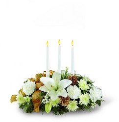 The FTD Season's Glow Centerpiece from Victor Mathis Florist in Louisville, KY
