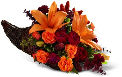 The FTD Harvest Home Cornucopia from Victor Mathis Florist in Louisville, KY