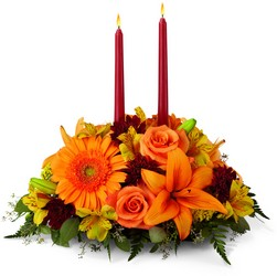 The FTD Bright Autumn Centerpiece from Victor Mathis Florist in Louisville, KY