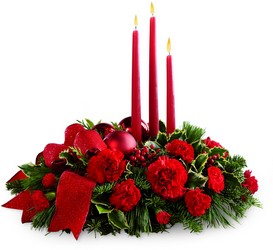 The FTD Lights of the Season Centerpiece from Victor Mathis Florist in Louisville, KY
