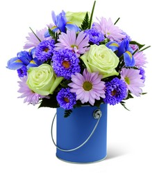 The FTD Color Your Day With Tranquility Bouquet from Victor Mathis Florist in Louisville, KY
