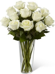The FTD White Rose Bouquet from Victor Mathis Florist in Louisville, KY