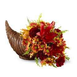 The FTD Fall Harvest Cornucopia by Better Homes and Gardens  from Victor Mathis Florist in Louisville, KY