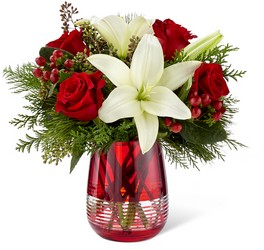 The FTD Festive Holiday Bouquet by Vera Wang from Victor Mathis Florist in Louisville, KY