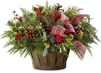 The FTD Holiday Homecomings Basket from Victor Mathis Florist in Louisville, KY