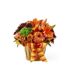The FTD Autumn Celebration Basket from Victor Mathis Florist in Louisville, KY