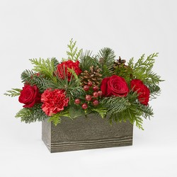 Christmas Cabin Bouquet from Victor Mathis Florist in Louisville, KY