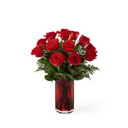 The FTD True Romantic Red Rose Bouquet from Victor Mathis Florist in Louisville, KY