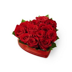The FTD Lovely Red Rose Heart Box from Victor Mathis Florist in Louisville, KY