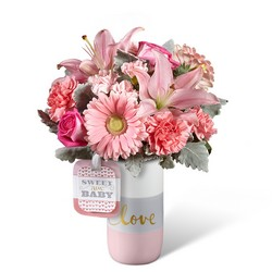 The FTD Sweet Baby Girl Bouquet by Hallmark from Victor Mathis Florist in Louisville, KY