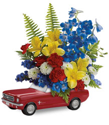 Teleflora's '65 Ford Mustang Bouquet from Victor Mathis Florist in Louisville, KY