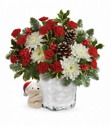 Send a Hug Bear Buddy Bouquet by Teleflora from Victor Mathis Florist in Louisville, KY