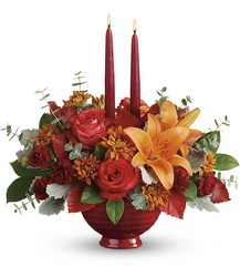 Teleflora's Autumn In Bloom Centerpiece from Victor Mathis Florist in Louisville, KY