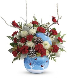 Teleflora's Cardinals In The Snow Ornament from Victor Mathis Florist in Louisville, KY