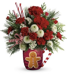 Send A Hug Winter Sips Bouquet by Teleflora from Victor Mathis Florist in Louisville, KY