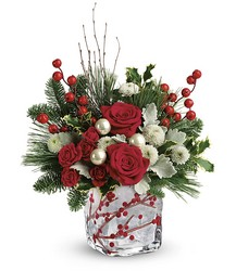 Teleflora's Winterberry Kisses Bouquet from Victor Mathis Florist in Louisville, KY