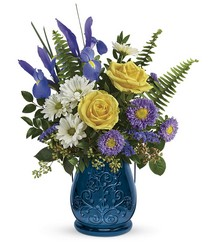 Teleflora's Sapphire Garden Bouquet from Victor Mathis Florist in Louisville, KY