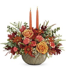 Teleflora's Artisanal Autumn Centerpiece from Victor Mathis Florist in Louisville, KY