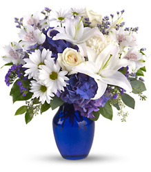 Beautiful in Blue from Victor Mathis Florist in Louisville, KY
