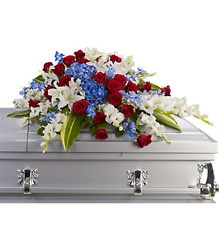 Distinguished Service Casket Spray from Victor Mathis Florist in Louisville, KY