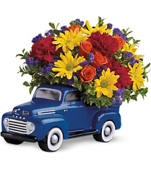 Teleflora's '48 Ford Pickup Bouquet from Victor Mathis Florist in Louisville, KY