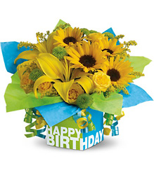 Teleflora's Sunny Birthday Present from Victor Mathis Florist in Louisville, KY