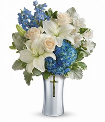 Teleflora's Skies Of Remembrance Bouquet from Victor Mathis Florist in Louisville, KY