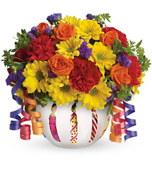 Teleflora's Brilliant Birthday Blooms from Victor Mathis Florist in Louisville, KY