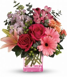 Teleflora's Painterly Pink Bouquet from Victor Mathis Florist in Louisville, KY