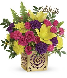 Teleflora's Colorful Celebration Bouquet from Victor Mathis Florist in Louisville, KY