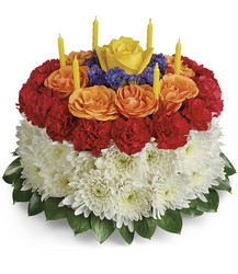 Your Wish Is Granted Birthday Cake Bouquet from Victor Mathis Florist in Louisville, KY