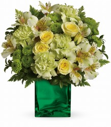 Teleflora's Emerald Elegance Bouquet from Victor Mathis Florist in Louisville, KY