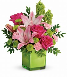 Teleflora's In Love With Lime Bouquet from Victor Mathis Florist in Louisville, KY