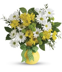Teleflora's Daisies And Dots Bouquet from Victor Mathis Florist in Louisville, KY