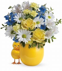 Teleflora's Sweet Peep Bouquet - Baby Blue from Victor Mathis Florist in Louisville, KY