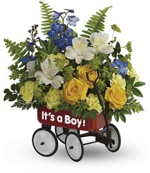 Teleflora's Sweet Little Wagon Bouquet from Victor Mathis Florist in Louisville, KY